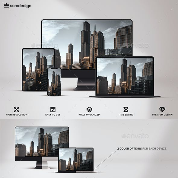 Multi Device Responsive Screen Mock-up