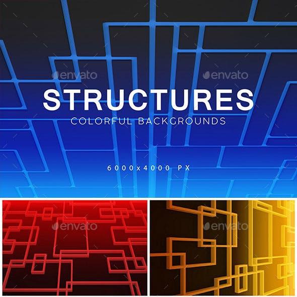 Structures 3D Backgrounds