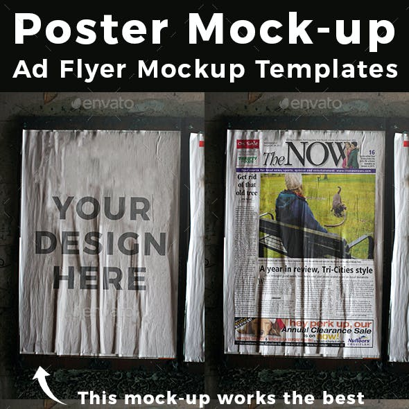 Poster Mock-up Ad Flyer Mockup Templates