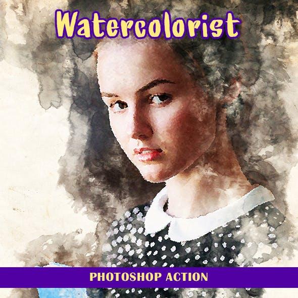 Watercolorist Photoshop Action