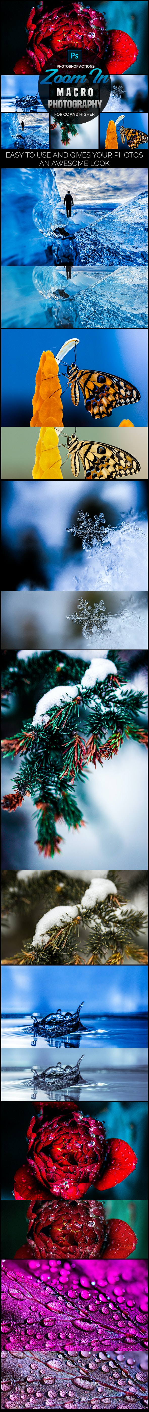 Zoom In - Macro Photography Photoshop Actions - Photo Effects Actions