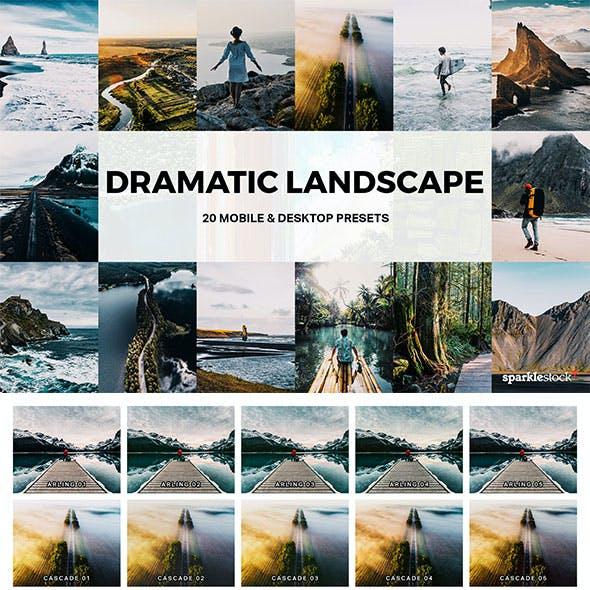 20 Dramatic Landscape Lightroom Presets and LUTs