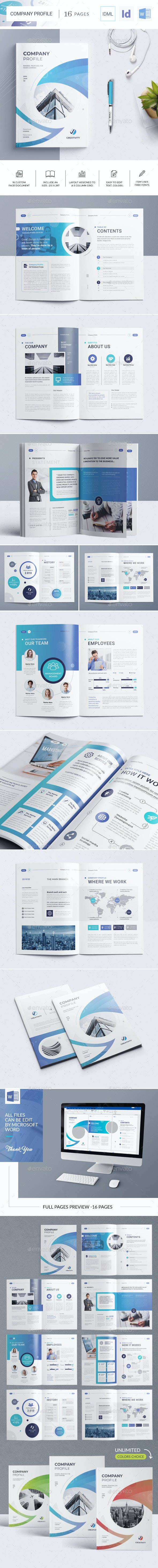 The Company Profile Word Template - Corporate Brochures