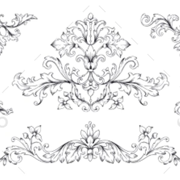 Floral Baroque Ornaments