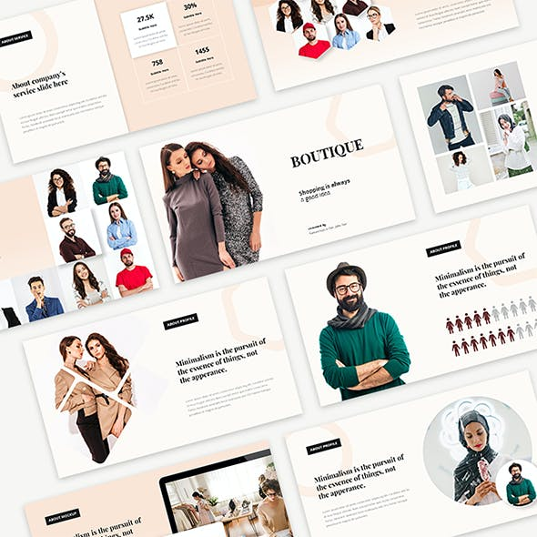 Boutique - Modern Fashion Powerpoint Templates