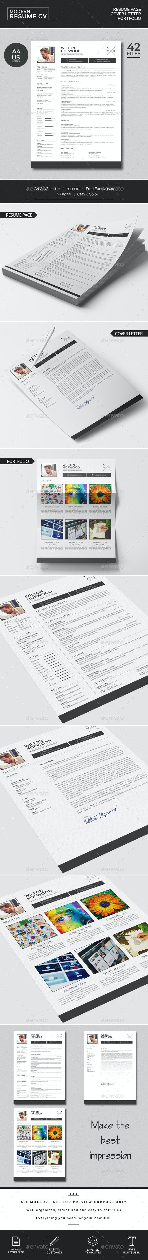 Modern Resume CV - Resumes Stationery