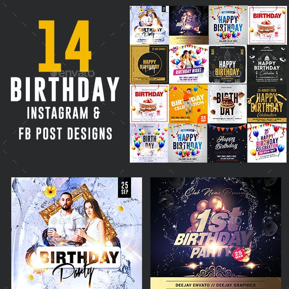 Birthday Party Social Media Banners