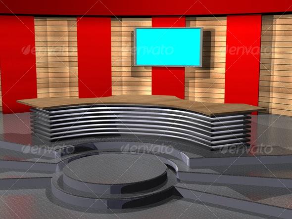 3D-TV_Studio_C_02 - Business Backgrounds
