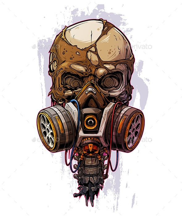 Skull with Gas Mask - Miscellaneous Characters