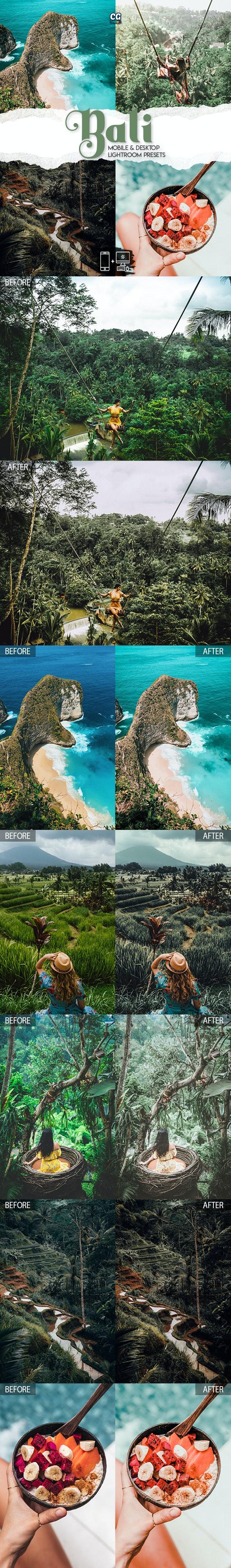 Bali Lightroom Presets - 15 Premium Lightroom Presets - Lightroom Presets Add-ons
