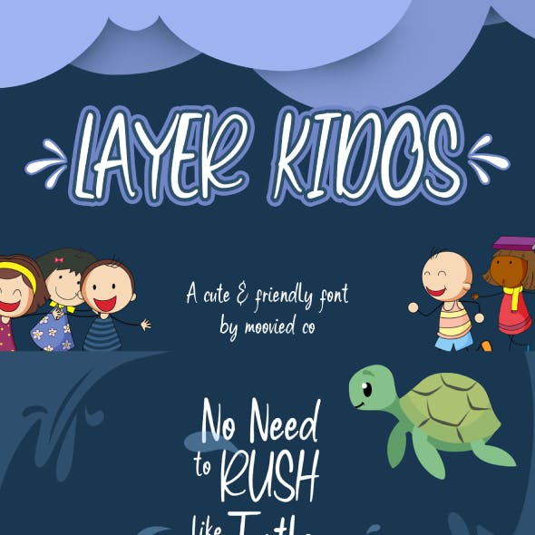 Layer Kidos Kids Font Display