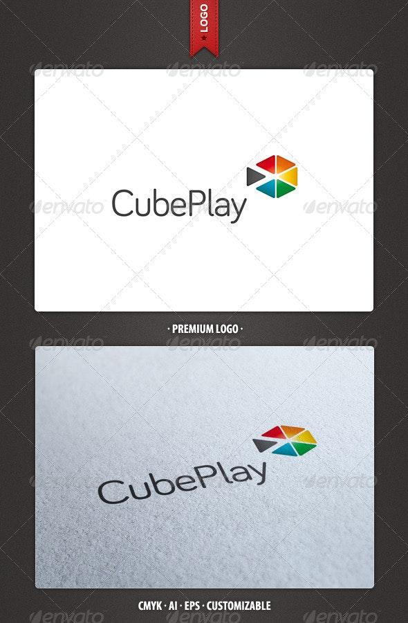 Cube Play Logo Template - Abstract Logo Templates