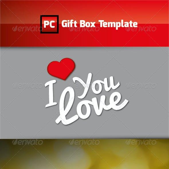 I LOVE Gift Box Template