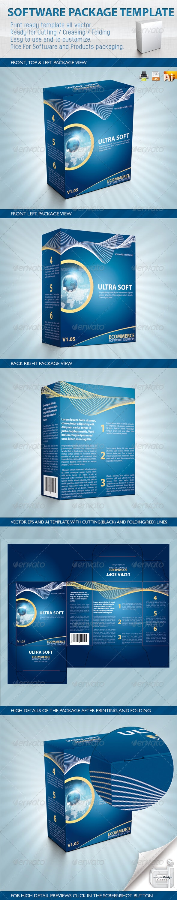 Software Package Template - Packaging Print Templates
