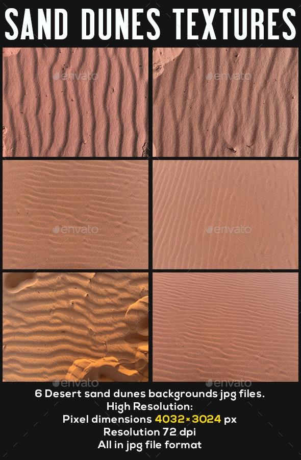 6 Desert Sand Dunes Textures - Nature Backgrounds