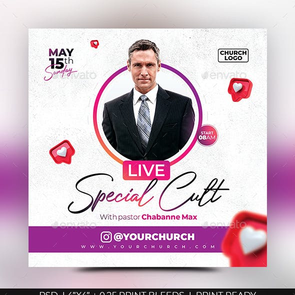 Live Cult Flyer