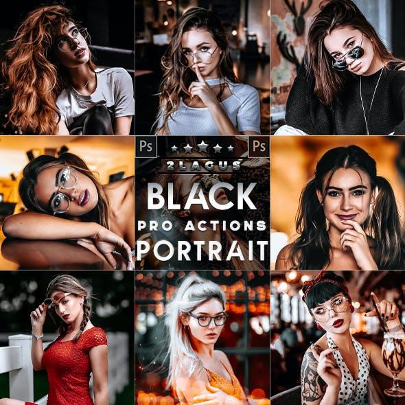 Black Tones Portrait  Photoshop Actions