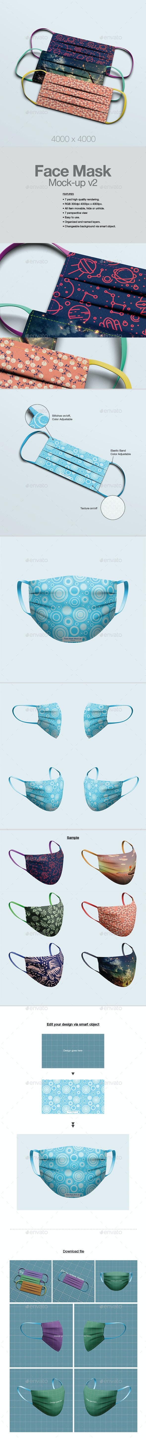 Face Mask Mock-up v2 - Miscellaneous Graphics