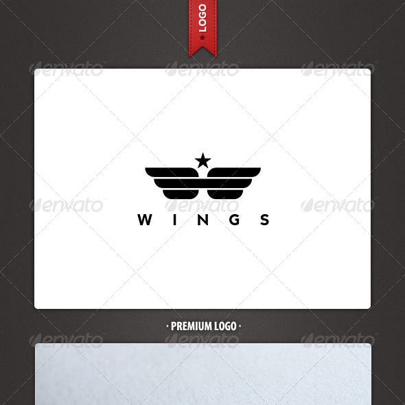 Wings Army Logo Template