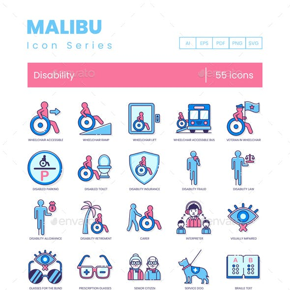 55 Disability Icons and Handicap Icons