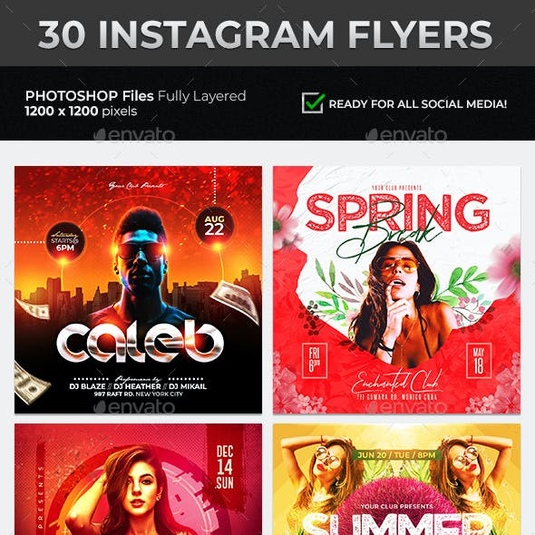 30 Instagram Flyer Templates Pack