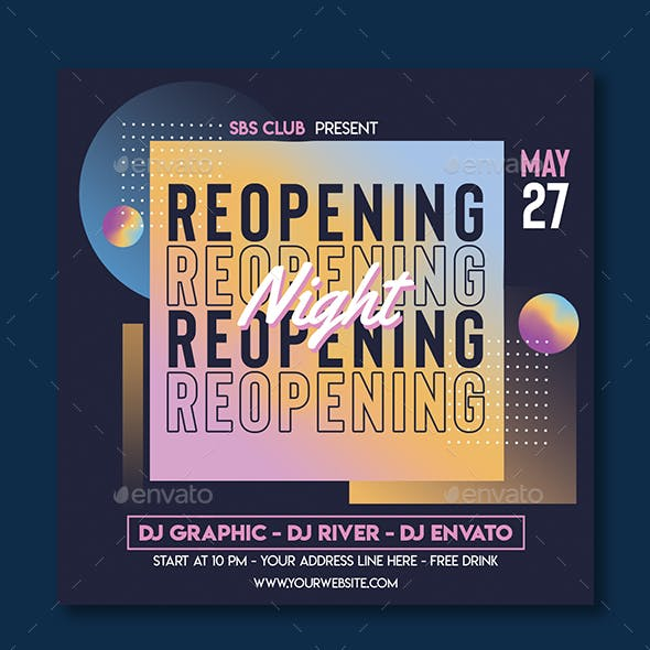 Re-opening Club Flyer Template