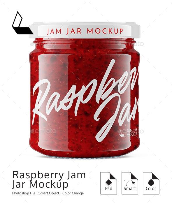 Raspberry Jam Jar #6 Mockup - Product Mock-Ups Graphics