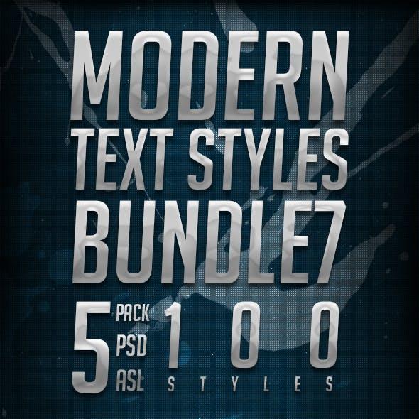 Modern Text Styles Bundle 7
