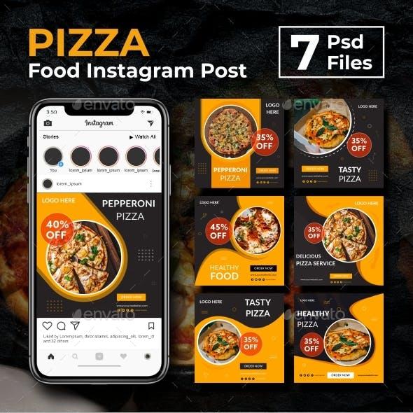 Pizza - Food Instagram Post