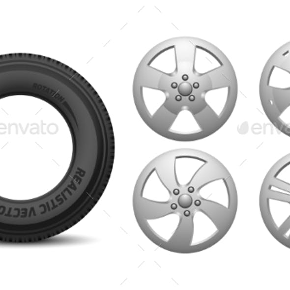 Car Rims and Tire