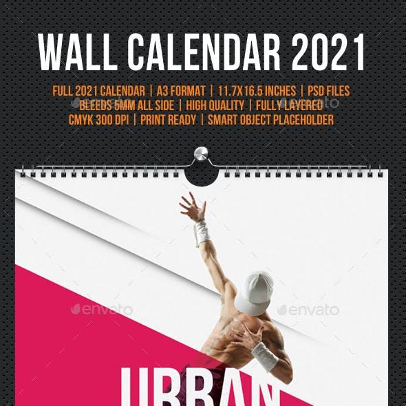 Wall Calendar A3 2021 V08