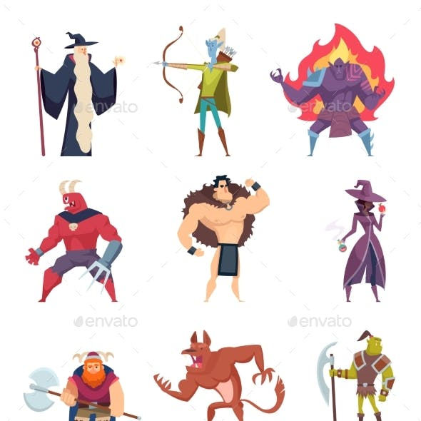 Fairytale Characters. Fantasy Creatures Gremlins