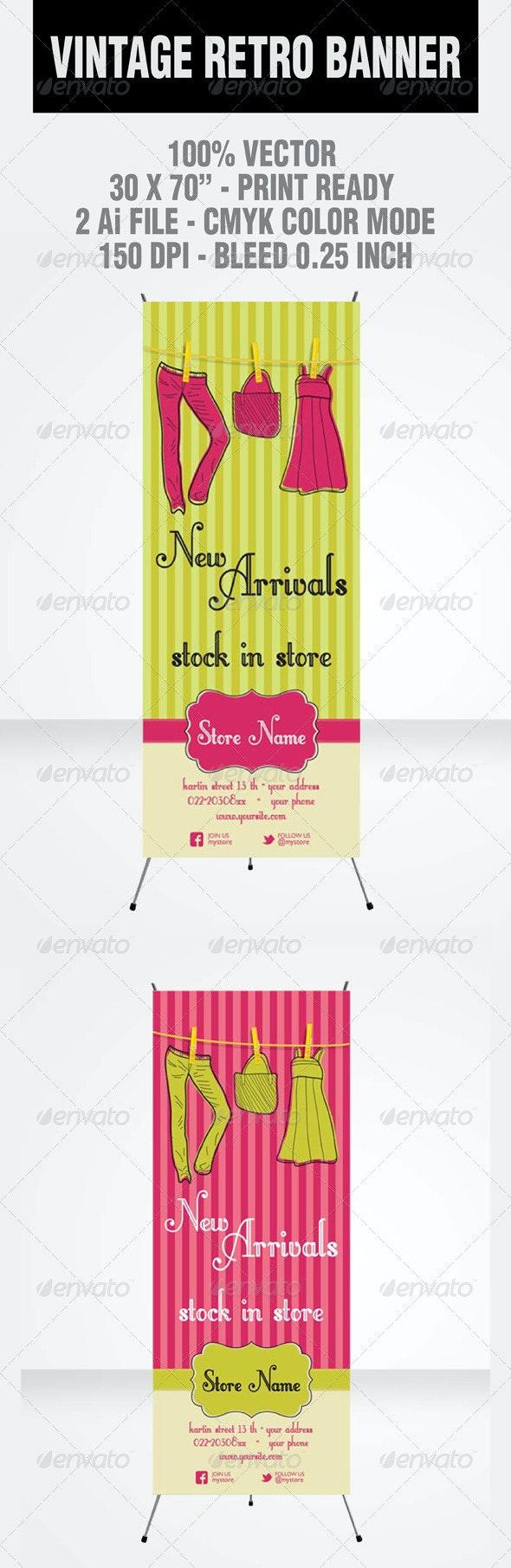 Vintage Retro Banner - Signage Print Templates