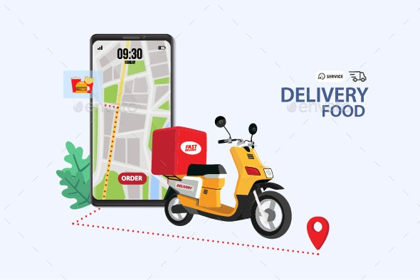 Food Delivery - Vectors
