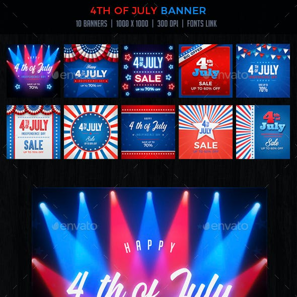 4th of July  / Memorial Day Banners