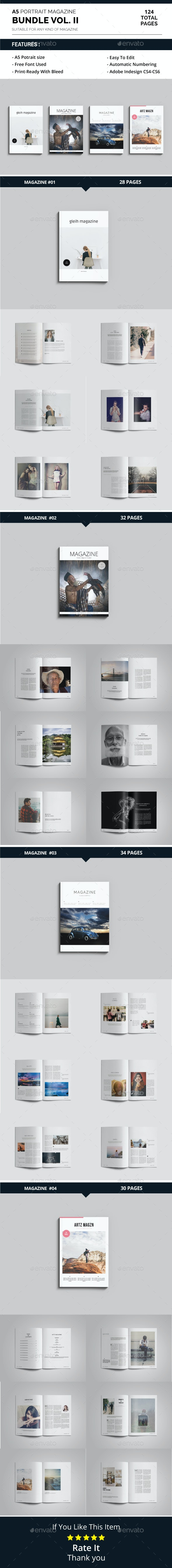 A5 Magazine Bundle Vol. II - Magazines Print Templates