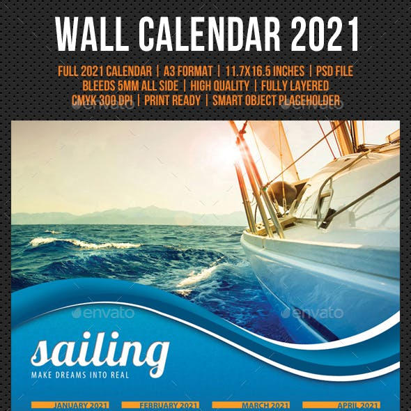 Wall Calendar A3 2021 V01