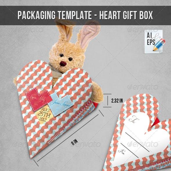 Packaging Template - Heart Gift Box