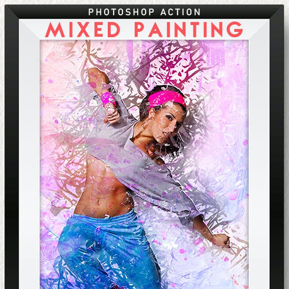 Mixed Painting Photoshop Action