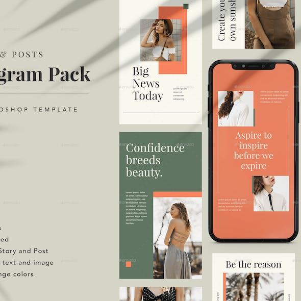 Mutiara Instagram Pack Template