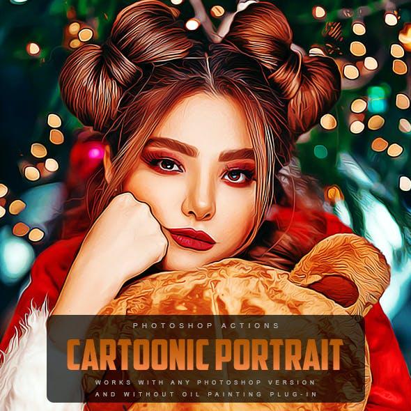 Cartoonic Portrait - Photoshop Action
