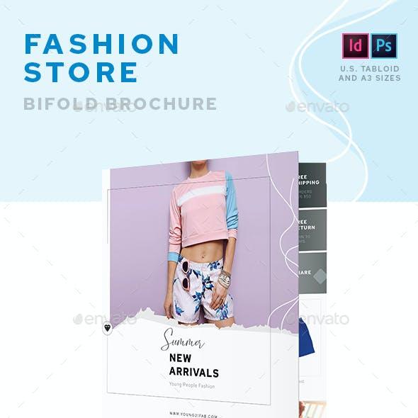 Fashion Store Bifold Brochure