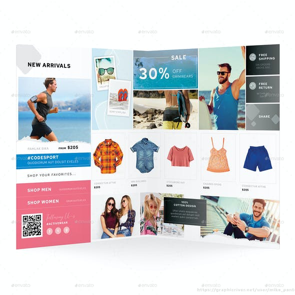 Fashion Store Bifold Brochure