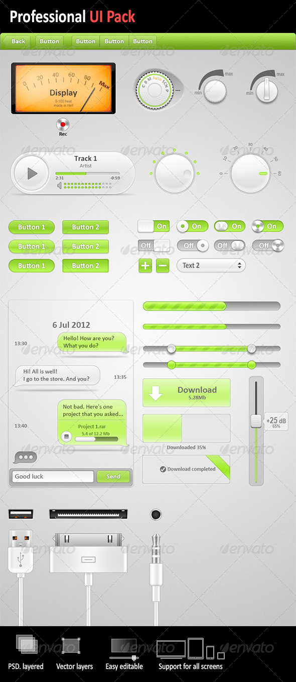 Professional UI Pack - User Interfaces Web Elements