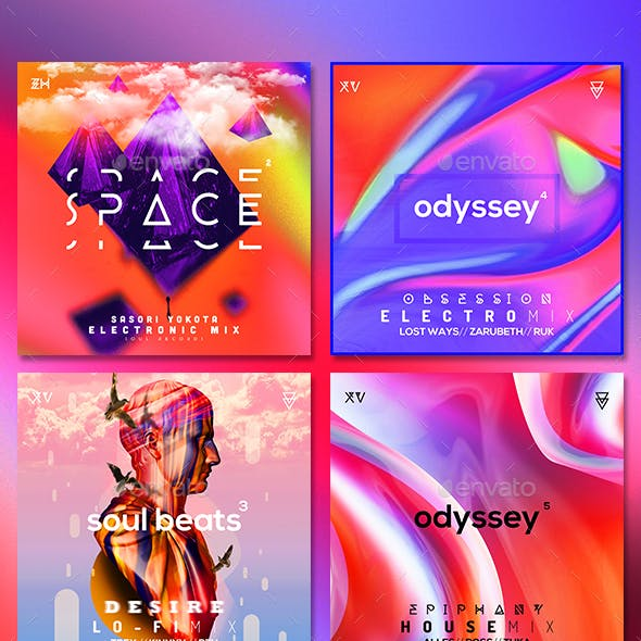 Music Album Cover Artwork - Bundle 7
