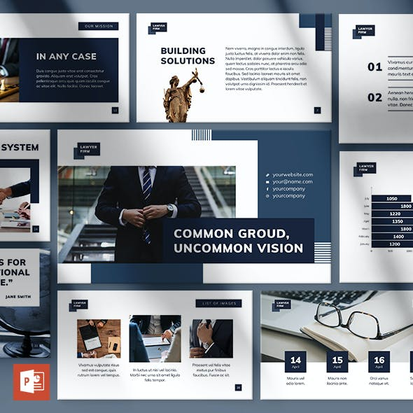 Law Firm PowerPoint Presentation Template