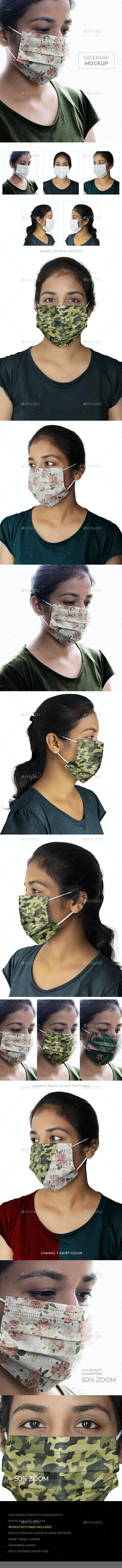 Face Mask Mockup - Miscellaneous Print