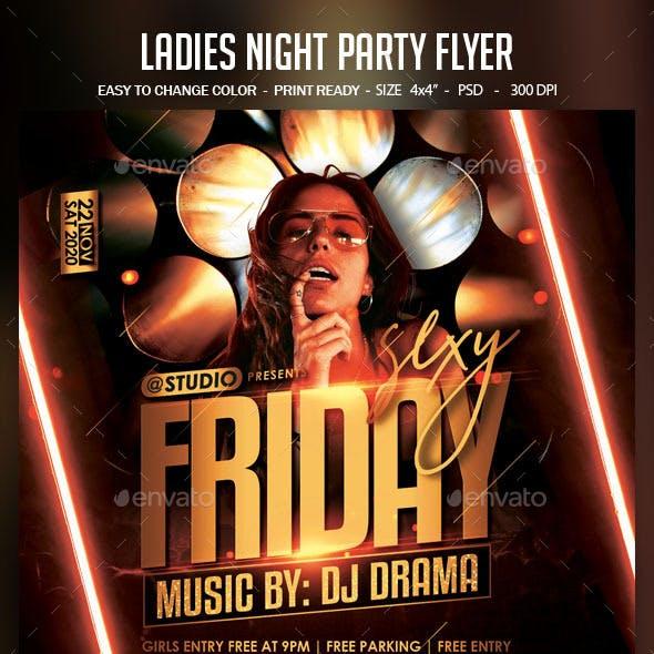 Ladies Night Party Flyer