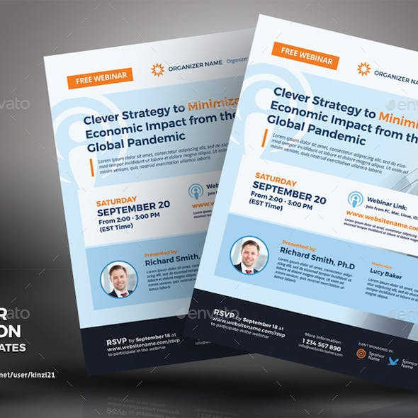 Webinar Invitation Flyer Templates
