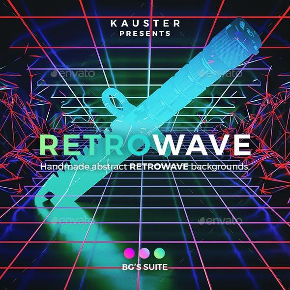 Retrowave Backgrounds Bundle